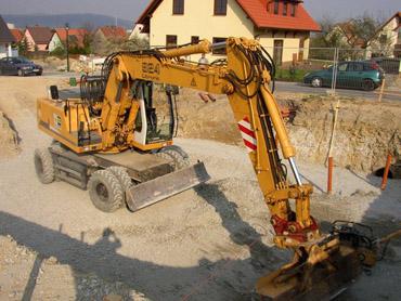 1. Woche: Baugrubenaushub