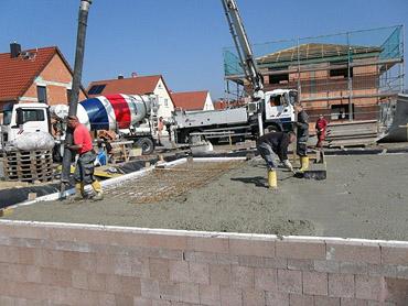 3.-4. Woche: Decke betonieren